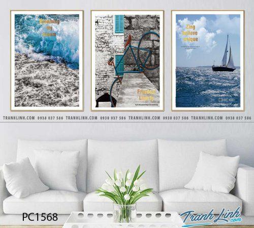 Bo tranh Canvas treo tuong trang tri phong khach phong canh PC1568