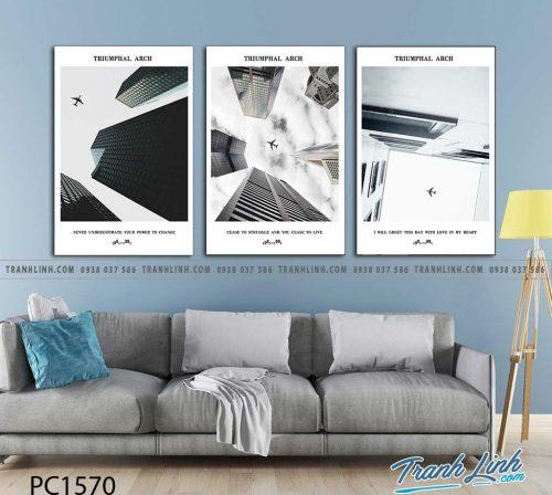 Bo tranh Canvas treo tuong trang tri phong khach phong canh PC1570