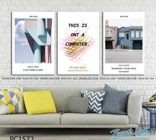 Bo tranh Canvas treo tuong trang tri phong khach phong canh PC1572