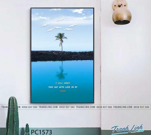 Bo tranh Canvas treo tuong trang tri phong khach phong canh PC1573