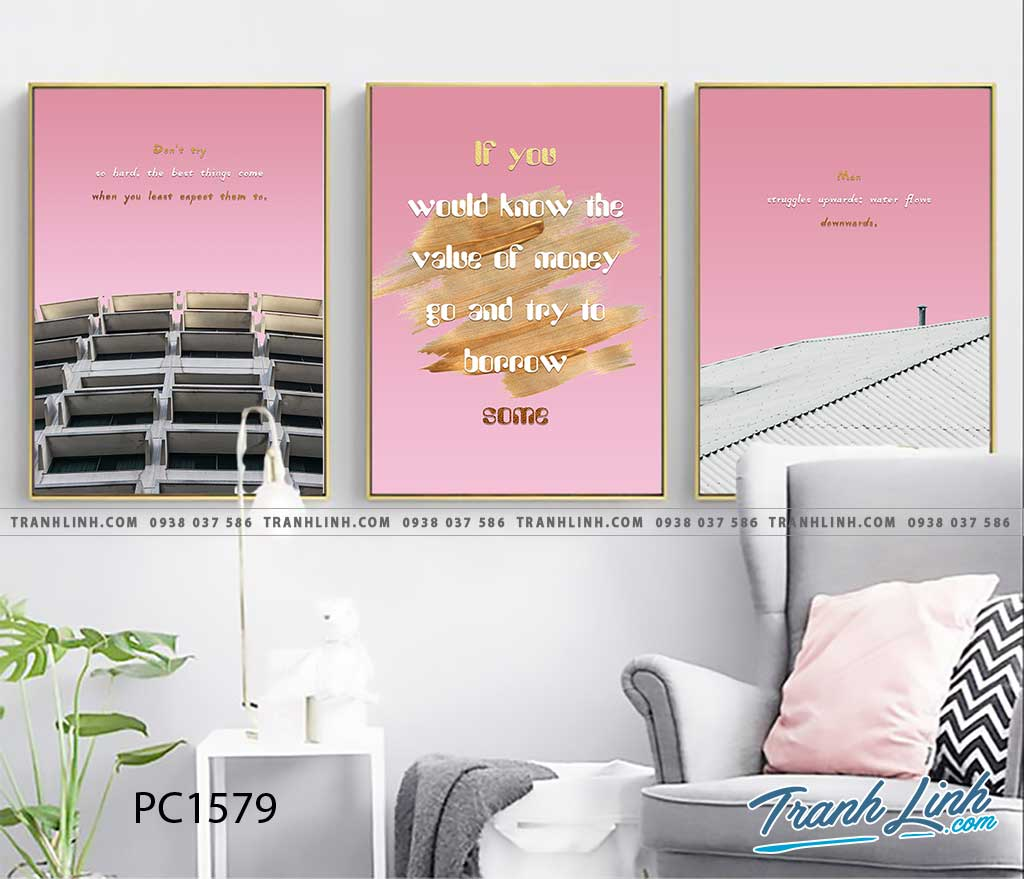 Bo tranh Canvas treo tuong trang tri phong khach phong canh PC1579