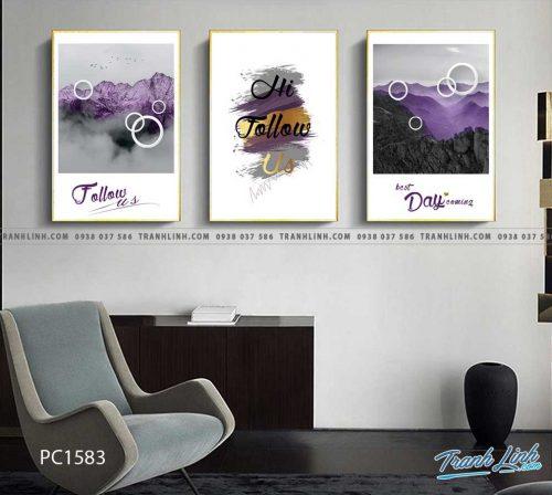 Bo tranh Canvas treo tuong trang tri phong khach phong canh PC1583