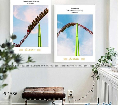 Bo tranh Canvas treo tuong trang tri phong khach phong canh PC1586