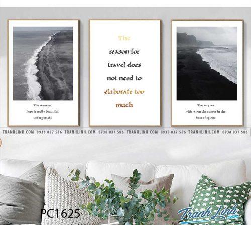Bo tranh Canvas treo tuong trang tri phong khach phong canh PC1625