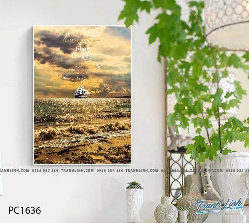 Bo tranh Canvas treo tuong trang tri phong khach phong canh PC1636