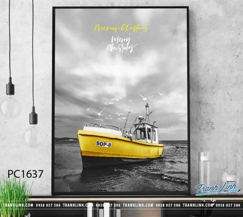 Bo tranh Canvas treo tuong trang tri phong khach phong canh PC1637