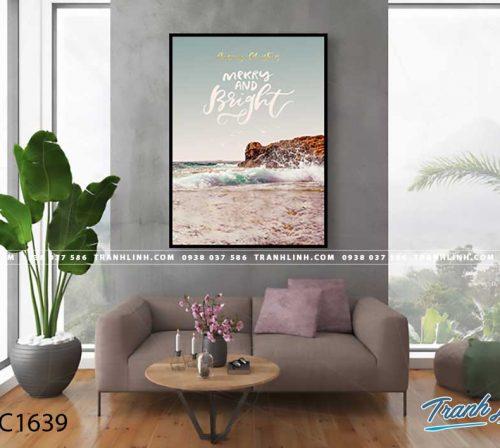 Bo tranh Canvas treo tuong trang tri phong khach phong canh PC1639