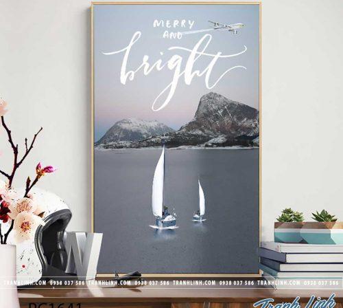 Bo tranh Canvas treo tuong trang tri phong khach phong canh PC1641