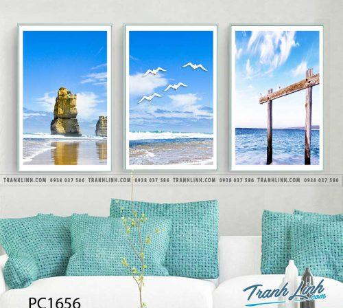 Bo tranh Canvas treo tuong trang tri phong khach phong canh PC1656