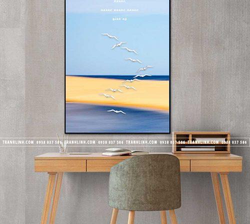 Bo tranh Canvas treo tuong trang tri phong khach phong canh PC1668