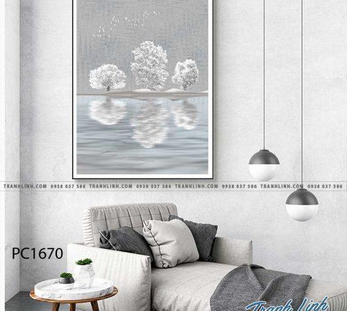 Bo tranh Canvas treo tuong trang tri phong khach phong canh PC1670