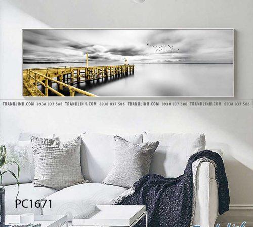 Bo tranh Canvas treo tuong trang tri phong khach phong canh PC1671