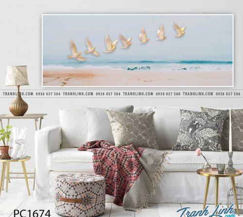 Bo tranh Canvas treo tuong trang tri phong khach phong canh PC1674