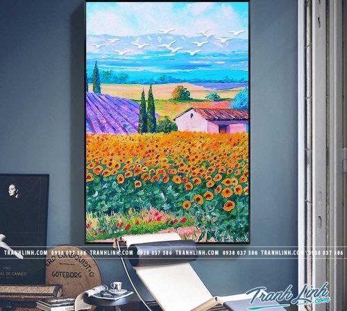 Bo tranh Canvas treo tuong trang tri phong khach phong canh PC1675