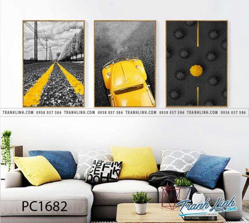 Bo tranh Canvas treo tuong trang tri phong khach phong canh PC1682