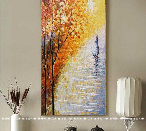 Bo tranh Canvas treo tuong trang tri phong khach phong canh PC1683