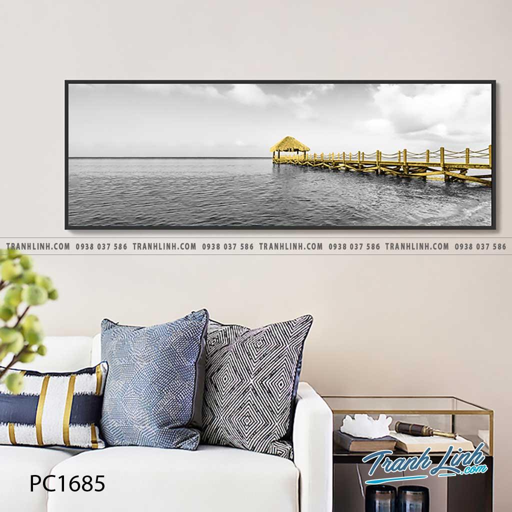 Bo tranh Canvas treo tuong trang tri phong khach phong canh PC1685