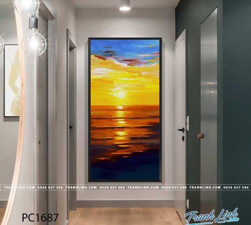 Bo tranh Canvas treo tuong trang tri phong khach phong canh PC1687