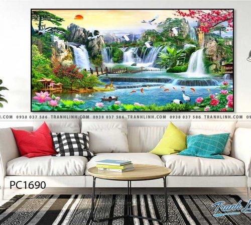 Bo tranh Canvas treo tuong trang tri phong khach phong canh PC1690