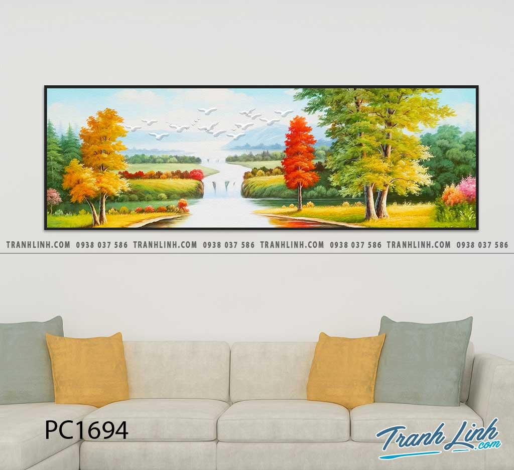 Bo tranh Canvas treo tuong trang tri phong khach phong canh PC1694