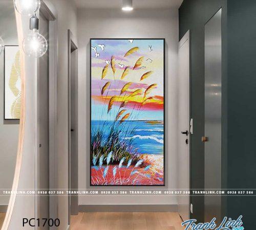 Bo tranh Canvas treo tuong trang tri phong khach phong canh PC1700