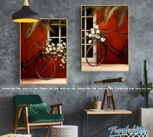 Bo tranh Canvas treo tuong trang tri phong khach phong canh PC1704