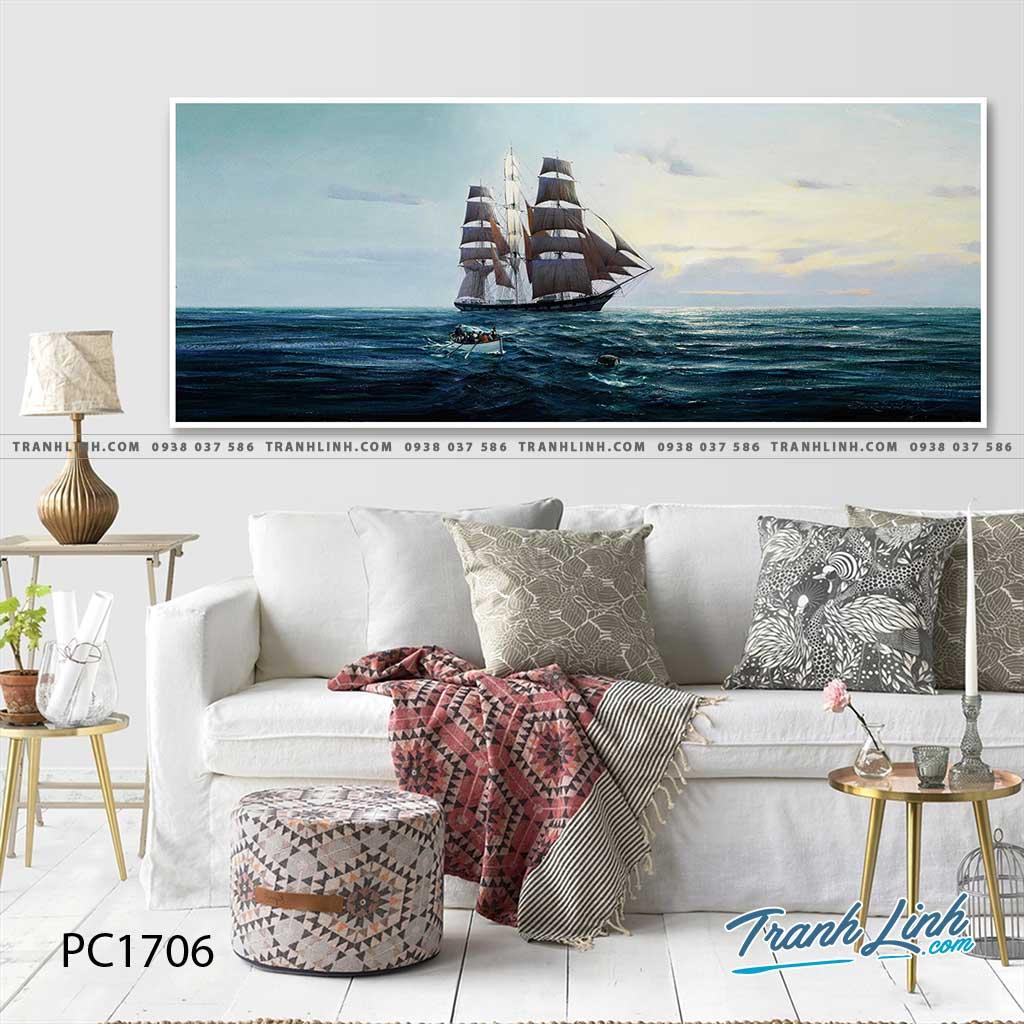 Bo tranh Canvas treo tuong trang tri phong khach phong canh PC1706