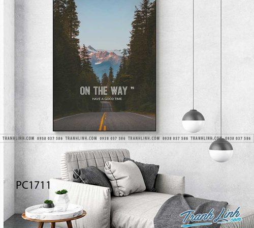 Bo tranh Canvas treo tuong trang tri phong khach phong canh PC1711