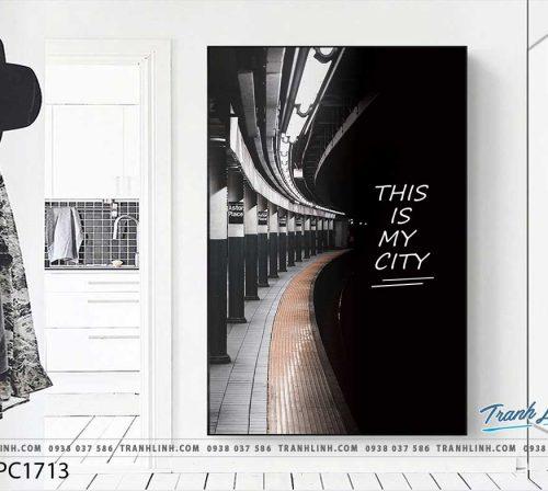 Bo tranh Canvas treo tuong trang tri phong khach phong canh PC1713