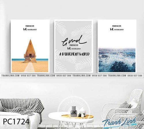 Bo tranh Canvas treo tuong trang tri phong khach phong canh PC1724