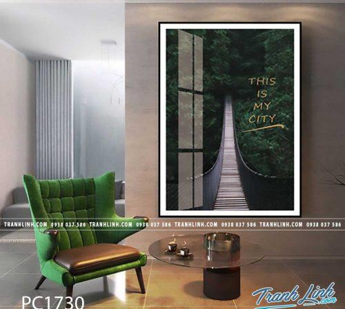 Bo tranh Canvas treo tuong trang tri phong khach phong canh PC1730