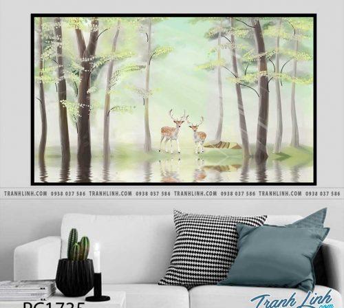 Bo tranh Canvas treo tuong trang tri phong khach phong canh PC1735