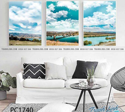 Bo tranh Canvas treo tuong trang tri phong khach phong canh PC1740