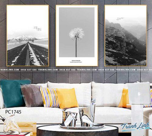 Bo tranh Canvas treo tuong trang tri phong khach phong canh PC1745