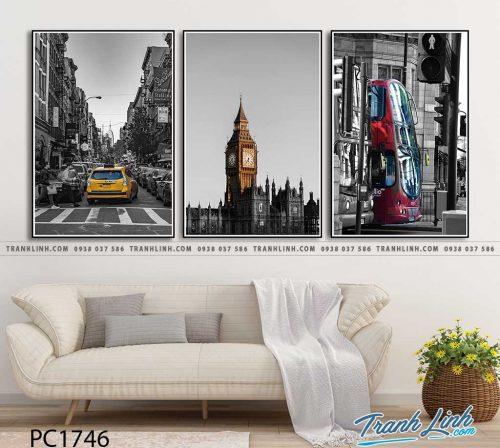 Bo tranh Canvas treo tuong trang tri phong khach phong canh PC1746