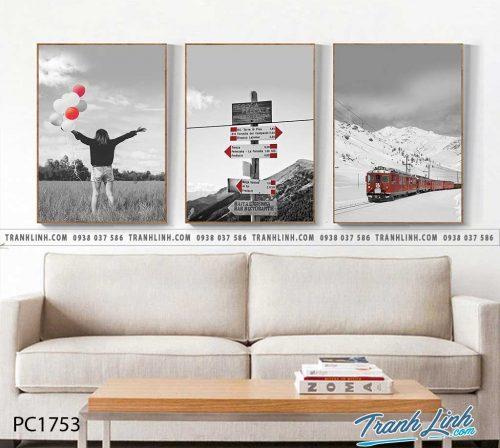 Bo tranh Canvas treo tuong trang tri phong khach phong canh PC1753