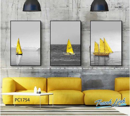 Bo tranh Canvas treo tuong trang tri phong khach phong canh PC1754