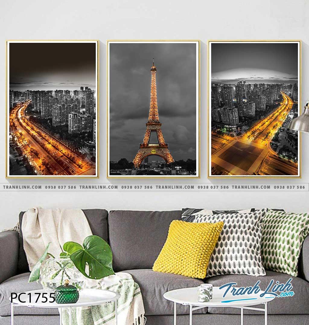Bo tranh Canvas treo tuong trang tri phong khach phong canh PC1755