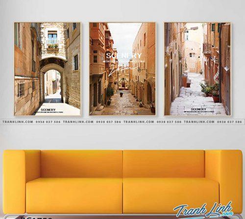 Bo tranh Canvas treo tuong trang tri phong khach phong canh PC1759
