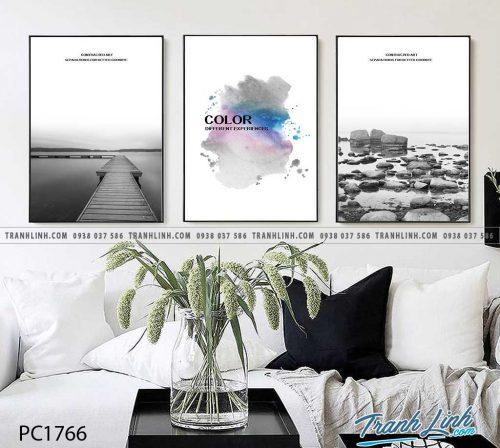 Bo tranh Canvas treo tuong trang tri phong khach phong canh PC1766