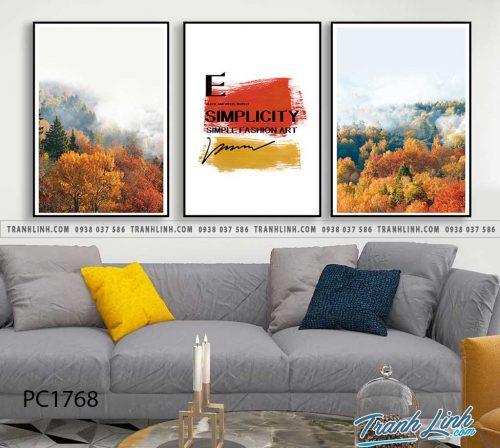 Bo tranh Canvas treo tuong trang tri phong khach phong canh PC1768