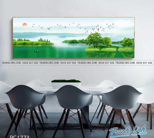 Bo tranh Canvas treo tuong trang tri phong khach phong canh PC1773