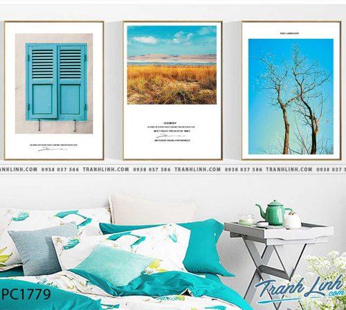 Bo tranh Canvas treo tuong trang tri phong khach phong canh PC1779
