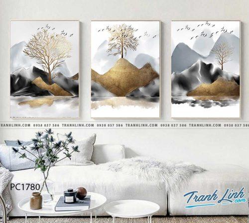 Bo tranh Canvas treo tuong trang tri phong khach phong canh PC1780