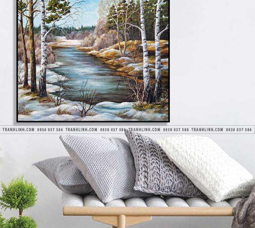 Bo tranh Canvas treo tuong trang tri phong khach phong canh PC1793
