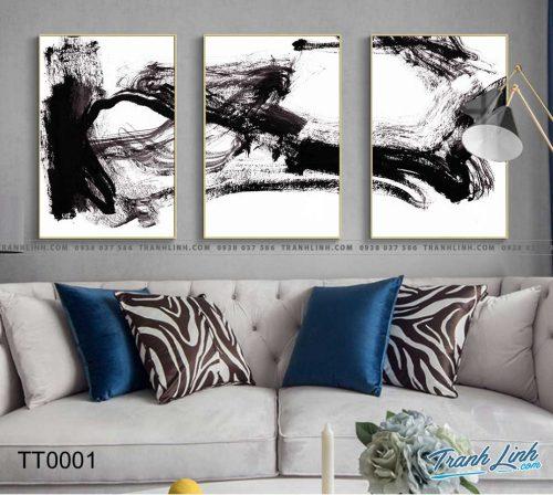 Bo tranh Canvas treo tuong trang tri phong khach truu tuong TT0001