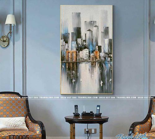 Bo tranh Canvas treo tuong trang tri phong khach truu tuong TT0005