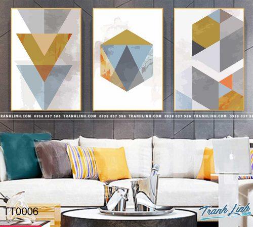 Bo tranh Canvas treo tuong trang tri phong khach truu tuong TT0006