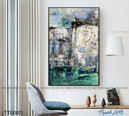 Bo tranh Canvas treo tuong trang tri phong khach truu tuong TT0007
