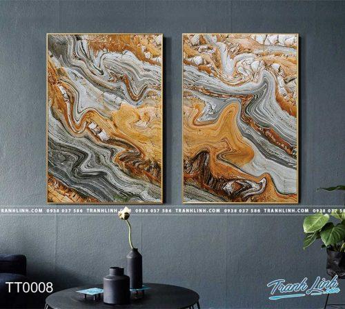 Bo tranh Canvas treo tuong trang tri phong khach truu tuong TT0008